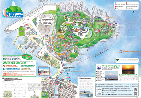ENOSHIMA Tourist Map
